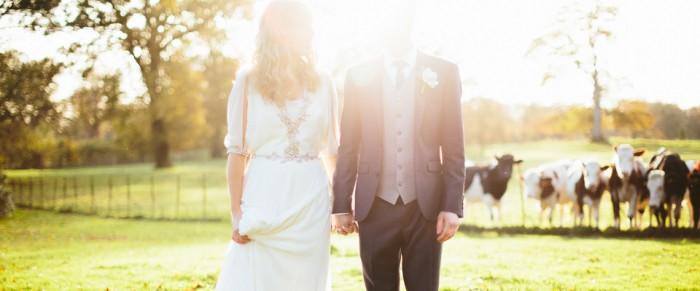 Roy & Sarah // Larchfield Estate DIY Barn wedding