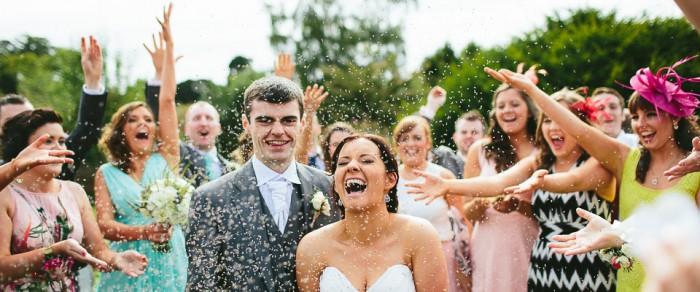 John & Danielle // Larchfield Estate Outdoor Garden Wedding