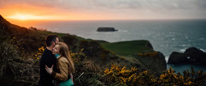 Robbie & Laura // Ballintoy Harbour Engagement Session