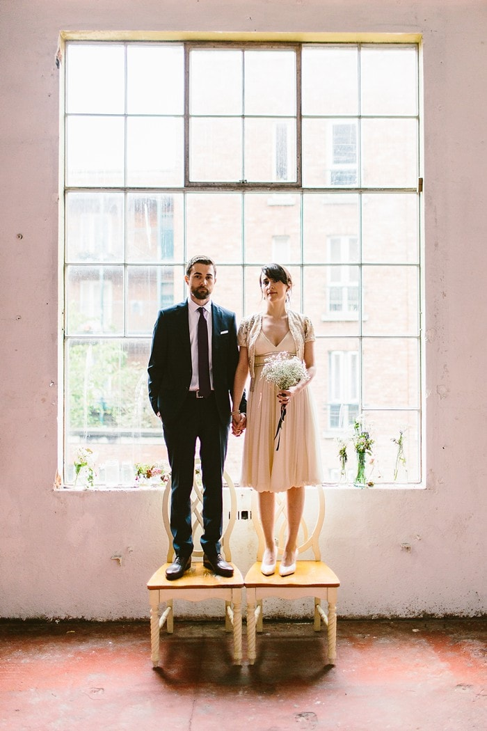 wedding portraits at the chocolate factory in Dublin