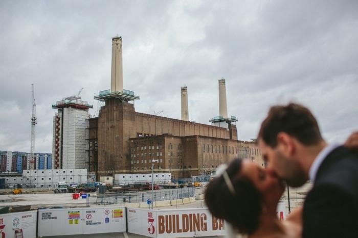 Fine art wedding portraits at Battersea Power station