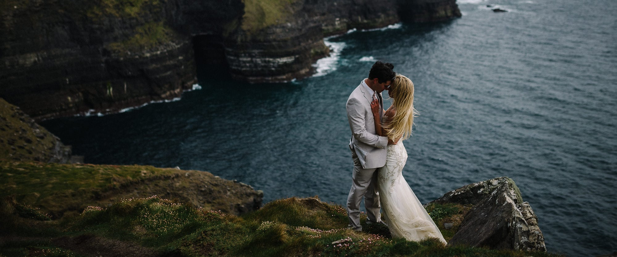 an intimate cliffs of moher wedding
