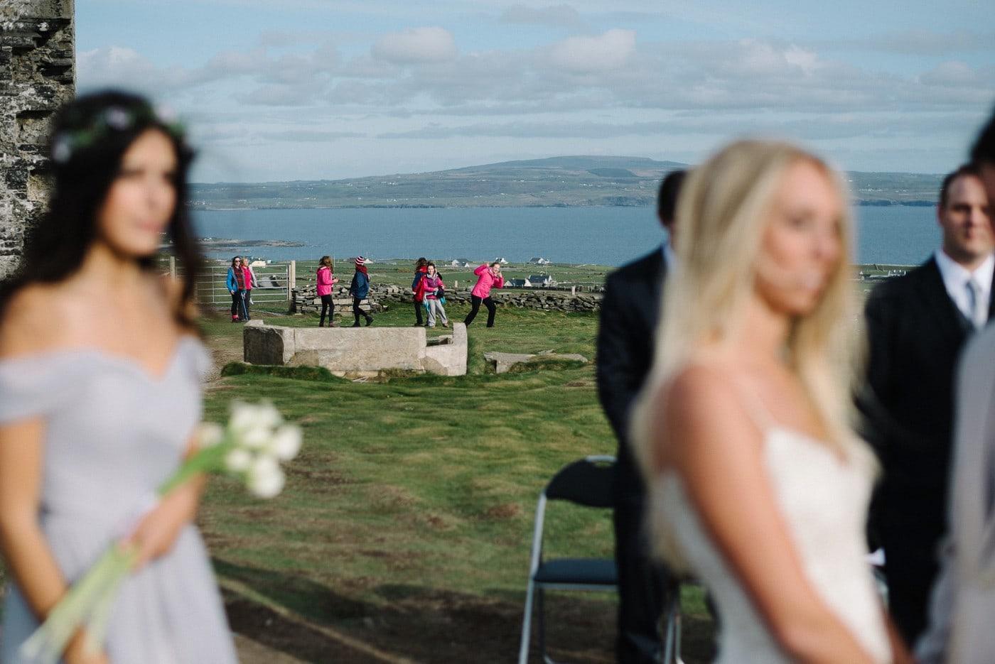 Intimate wedding Cliffs of Moher Ireland